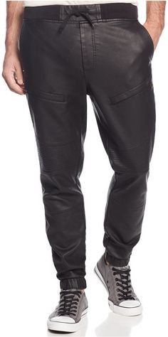 Ring of Fire Faux Leather Moto Jogger Pants