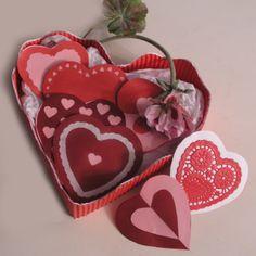 Flores e corações de Dia dos Namorados