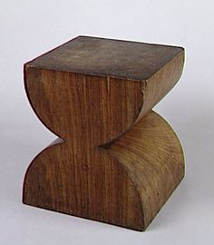 Constantin Brancusi; Acacia Stool, 1928.