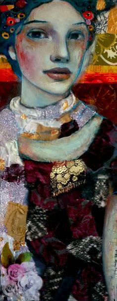// La plus belle pour aller danser- on canvas- Leo-Vinh- 2014 #art #mixed media #woman #face