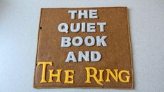 Lord Of The Rings inspired quiet book PATTERN by juliebell on Etsy