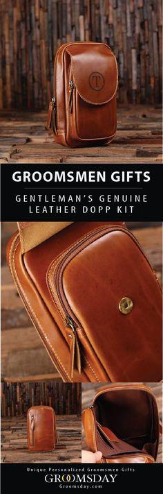 Gentleman s Dopp - Leather Groomsmen Dopp Kit 7fff1a8030c76