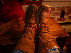 My center-seam eastern woodland moccasins made by Fox ' s Moccasins