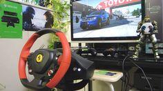 [22] Xbox One Forza 6  Thrustmaster Ferrari 458 Spider Racing Wheel Game...