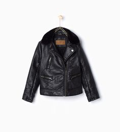 Jacket with furry collar