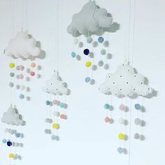Cute & cool cloud mobiles are in stores ☁️☁️☁️ Available in 2 sizes and 3 colours Nursery Crafts, Nursery Decor, Nursery Ideas, Cloud Mobile, Scandi Style, Christmas Delivery, Project Nursery, Baby Boy Nurseries, Kidsroom