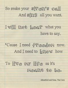 mumford and sons sigh no more lyrics - Google Search