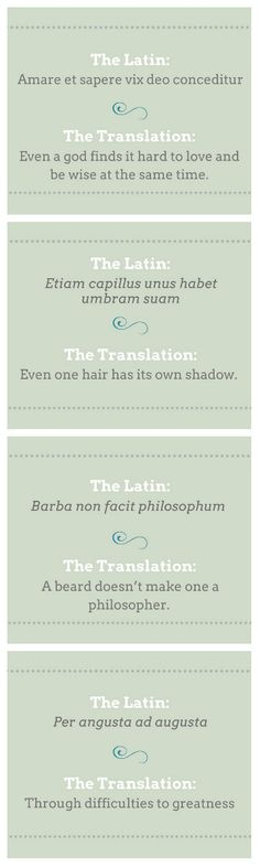 Phrases from the Past We Need to Bring Back || We all know about carpe diem—seize the day—but here are a few other forgotten Latin sayings that capture those hard-to-explain (and hard-to-get-through) moments everyone eventually faces.