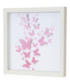 Pink 3-D Butterfly Wall Art by Green Frog #zulily #zulilyfinds