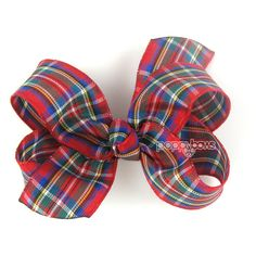 Ready to Ship Red Plaid Hair Bow 3 3 Inch Boutique Bow Christmas Hair... ($6.95) ❤ liked on Polyvore featuring accessories, hair accessories, barrettes & clips, grey, barrette hair clips, hair clip accessories, alligator hair clips, christmas hair clips and hair bows