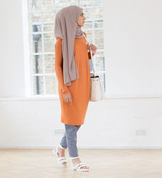 Burnt Orange Cocoon Midi - £19.00 : Inayah, Islamic Clothing & Fashion, Abayas, Jilbabs, Hijabs, Jalabiyas & Hijab Pins