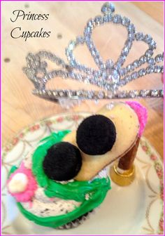 Cool and super easy to make Princess Cupcakes #cupcakes #princess