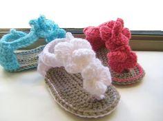 Baby Crochet | Crochet Dreamz: Orchid Sandals Crochet Baby Booties Pattern