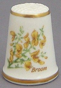 Royal Grafton Thimble - Flowers of the Poets Collection - Broom