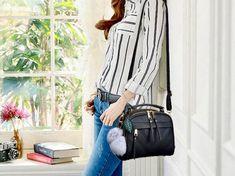 Leather Shoulder Bag, Leather Bag, Make A Gift, Fashion Addict, Olympics, Gym Bag, Handbags, Lady, Check