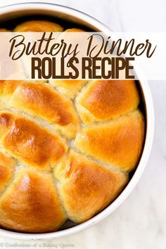 Fluffy dinner rolls made from scratch can be made a day ahead of time. These yeasted dinner rolls are baked to golden brown perfection and have the best buttery flavor. Perfect for Thanksgiving Christmas or Sunday night dinner. Quick Bread Recipes, Baking Recipes, Amish Recipes, Pastry Recipes, Muffin Recipes, Fluffy Dinner Rolls, Bread Rolls, Yeast Rolls, How To Make Bread