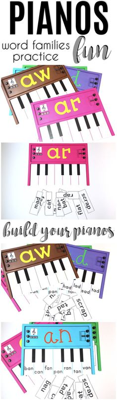 """Build your PIANOS and practice word families. The buyer said: """"Thank you for a great resource that the students enjoy using so much that they forget they are learning."""" 