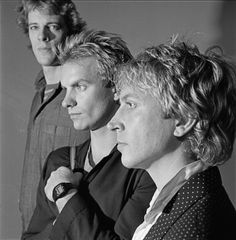 "The Police (1980) - part of a photo session for the cover of their third album ""Zenyatta Mondatta""."