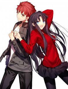 Fate/Stay Night - Shirou Emiya and Rin Tohsaka by Shima Shinoji: