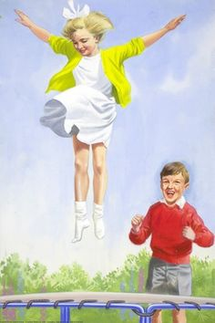Jane trampolining - Peter And Jane, Boys And Girls
