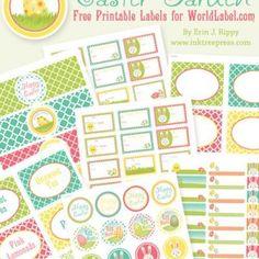 Printable Easter Label Set