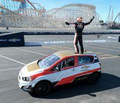 CRAZY! Watch Rob Dyrdek Set A Reverse Car Jump World Record! Hit the pic to view!