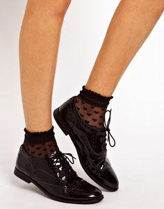 Image 2 ofASOS Socks With Sheer Heart Design