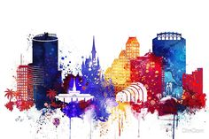 Orlando colorful watercolor