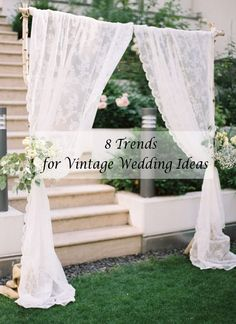 elegant arches for vintage wedding ideas