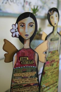 Soul sisters by Kelly Rae Roberts, hopefully this is what we will become thru this ecourse! One Thousand Gifts, Kelly Rae Roberts, Best Bud, Love Deeply, Lucky Star, Soul Sisters, Confident Woman, Pretty Little, Paper Dolls