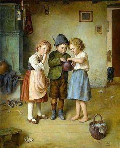 """""""The Honey Pot"""", by Edmund Adler, Austrian artist, dead in 1965"""