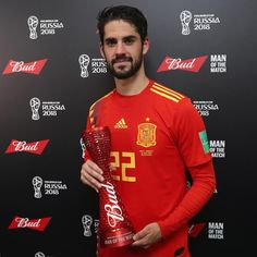The for was Spains Enhorabuena! World Cup Russia 2018, World Cup 2018, Fifa World Cup, Isco Alarcon, Ronaldo Real Madrid, Man Of The Match, Attractive People, Soccer Players, Cristiano Ronaldo