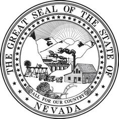 nevada state seal coloring page nevada history pinterest nevada