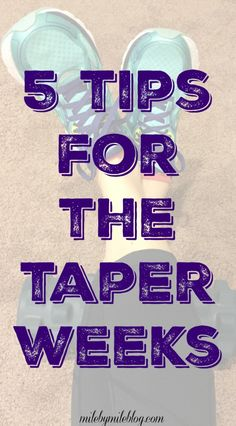 Are you in the taper for a full marathon or half marathon? Check out these reminders for some things to do during the taper. You don't want to go into your race unprepared!