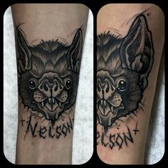 Bat blackwork neotraditional Tattoo colombia  By Juan David Castro R