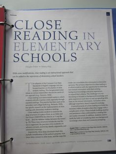 original pinner says: Scroll all the way to the bottom for an excellent article explaining what it is and best practices for effective delivery. 5th Grade Reading, Kindergarten Reading, Teaching Reading, Guided Reading, Close Reading Strategies, Reading Skills, Reading Resources, Teacher Resources, Teaching Ideas