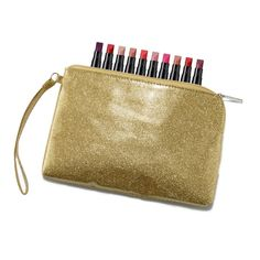 FREEGlam Bag & 10-Piece Lipstick Sample Set with any order of $45 or more! Use Code: GLAMBAG EXPIRES MIDNIGHT ET, 11/3/16. WHILE SUPPLIES LAST. MAIL DELIVERY ONLY. Avon reserves the right to substitute any free item offered with an item of equal or greater value. Limit one per order.This bundle includes:Gold WristletUltra Color Lipstick 10 - Piece Variety Pack
