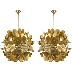 Spectacular Pair of Chandeliers | From a unique collection of antique and modern chandeliers and pendants  at https://www.1stdibs.com/furniture/lighting/chandeliers-pendant-lights/
