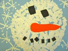 Kinder snowman collage