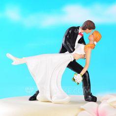 Cake Topper - $14.49 - Kissing Couple Resin Wedding Cake Topper (119036221) http://jjshouse.com/Kissing-Couple-Resin-Wedding-Cake-Topper-119036221-g36221
