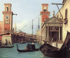 View of the Entrance to the Arsenal (detail) by CANALETTO #art
