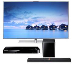 "SAMSUNG UE55F7000 Smart 3D 55"" LED TV with HW-F750 Wireless Soundbar and BD-F5500 Smart 3D Blu-ray Player"