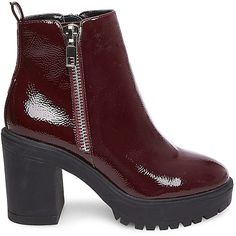 Steve Madden Turbo Booties ($100) ❤ liked on Polyvore featuring shoes, boots, ankle booties, ankle boots, high heel bootie, steve madden bootie, bootie boots, chunky-heel boots and round toe ankle boots