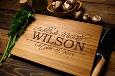Personalized Cutting Board Engraved Wood Cutting by woodstockin, $39.00