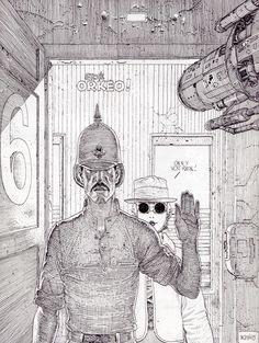 Le Garage Hermétique (avec Major fatal), de Moebius