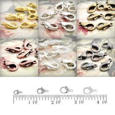 Approx 25Pcs Lobster Claw Clasp Hooks 14mm for Necklace Bracelet DIY Jewelry Findings Wholesale