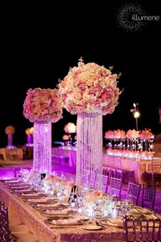 Great flower arrangements and tables