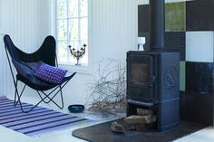 #fireplace  # tiles from Made a Mano