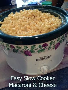 Check out our Slow Cooker Easy Macaroni & Cheese recipe. Only a few ingredients and a few steps. Perfect for holidays or game days.