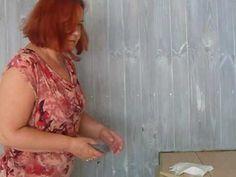 Stylizacja drewna woskiem wybielającym i szablonami